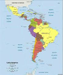 Blank North America Map by South America With Highlighted Bolivia Map Vector Illustration