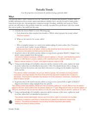 periodic table packet 1 answers periodic trends periodic trends can the properties of an element