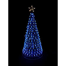 home accents 6 ft pre lit led blue twinkling tree