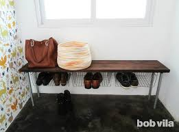 Build Shoe Storage Bench Plans by Diy Shoe Storage Bench Tutorial Bob Vila