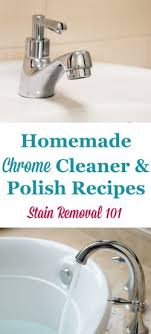 Cleaning Chrome Bathroom Fixtures Chrome Cleaner Recipes