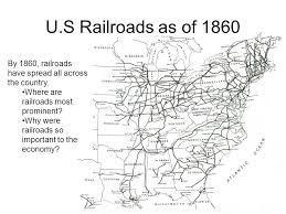 map us railroads 1860 differences between the and south ppt