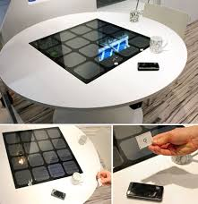 Wireless Charging Table Panasonic Unveils Wireless Mobile Phone Charging Table