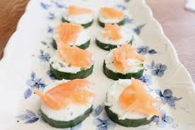 easiest canapes easy canapes salmon cucumber and cheese