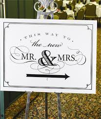 Mr And Mrs Wedding Signs Wedding Sign This Way To New Mr U0026 Mrs Wedding Decorations Signs