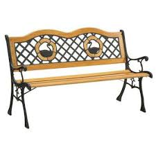 Emily Garden Bench Outdoor Benches Patio Chairs The Home Depot