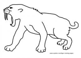 saber tooth tiger coloring free download