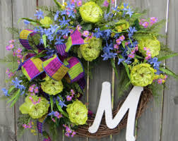 springtime wreaths bright wreath spring summer wreath electric colors wreath