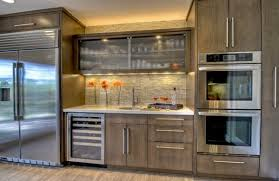 decorative glass for kitchen cabinets with view in gallery kitchen