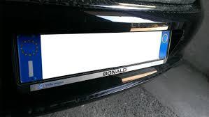 porta targa auto polovw it leggi argomento rimozione scritte conce portatarga