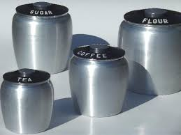 vintage canisters for kitchen vintage kromex spun aluminum canister set retro kitchen canisters