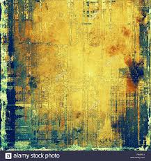 vintage yellow color old background or texture with vintage style grunge