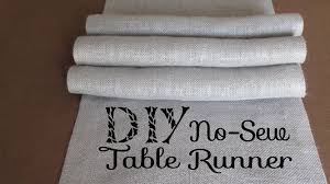 make your own table runner diy no sew burlap table runners diy wedding home decor youtube