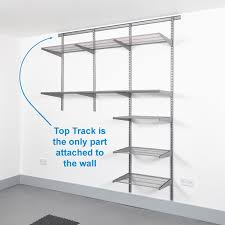 Lowes Metal Shelving by Amusing Wall Mounted Garage Shelving 12 In Lowes Wall Mounted