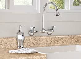 wall mount kitchen faucets kitchen wall mounted faucet with sprayer 99 in home mount