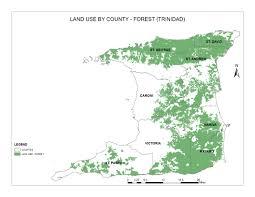 Map Of Trinidad Land Use By County Forest Trinidad U2014 Geonode