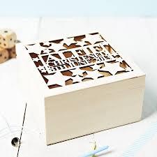 personalised keepsake box personalised christening keepsake box by