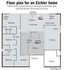 eichler home plans the eichler atrium home a mid century classic palo alto area