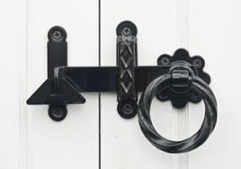 Sliding Barn Door Latch by Twisted Ring Gate Latch For Sliding Doors