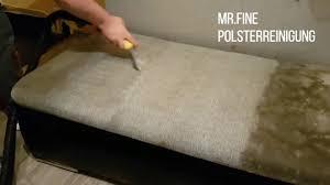 polsterreinigung sofa extrem schmutzige polster sofa reinigung sprühextraktion