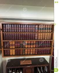 bookshelves in tall ship dining room stock photo image 71554321