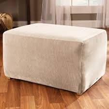Pottery Barn Slip Cover Ottoman Exquisite Overstuffed Chair Cover And Ottoman Slipcover