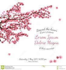 Bridal Invitation Cards Invitation Bridal Shower Card With Sakura Vector Stock Vector