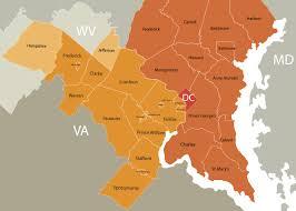 washington dc region map area information for dc md and va fortune washington realty