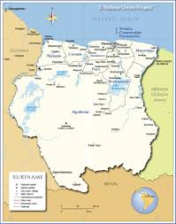 France On Map Administrative Map Of Suriname Nations Online Project