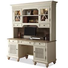 Computer Hutch Desk With Doors Shutter Door Credenza U0026 Glass Door Hutch By Riverside Furniture