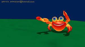 3d cartoon crab 6 leg walk cycle youtube