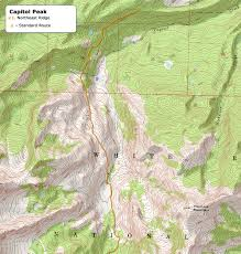 Bent Creek Trail Map 14ers Com U2022 Capitol Peak Route Description Northeast Ridge