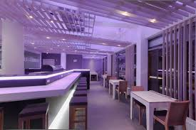 restaurant theme ideas restaurant modern purple theme restaurant and bar design idea
