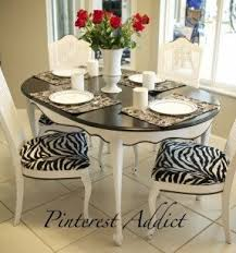Printed Fabric Armchairs Animal Print Dining Room Chairs Foter