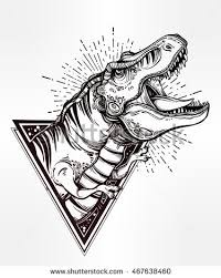 dinosaur tattoo stock images royalty free images u0026 vectors