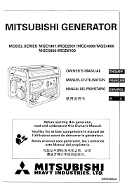 mitsubishi manuals free mitsubishi generator owners manual pdf