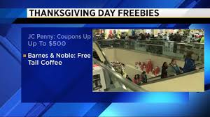 here is a list of freebies for thanksgiving day shoppers