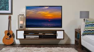 nice design of the tv stand white wall can be decor with wooden