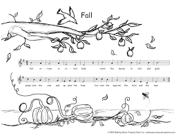 fall color pages printable free fall coloring sheets music