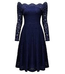 vintage off shoulder floral lace casual party dress n14013