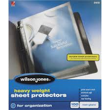 top sheet brands wilson jones heavy weight top loading sheet protectors non glare