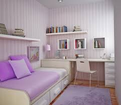 monochromatic study room design for girls white bookcase and big