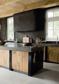 Matt Black And Raw Timber Kitchen Via Blood And Champagne Bar - Raw kitchen cabinets