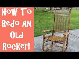 Unfinished Wood Rocking Chair How To Refinish An Old Wooden Rocking Chair With The Idaho Painter