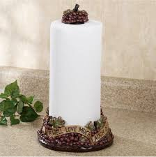 Tuscan Style Kitchen Canisters Live Love Laugh Grapes Paper Towel Holder Paper Towel Holders
