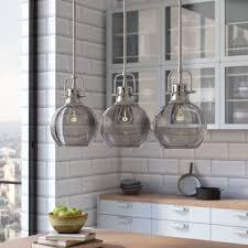 Pendant Island Lighting Kitchen Island Lighting You Ll Wayfair With Pendant Lights