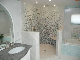 glass tile shower eclectic bathroom philadelphia by