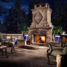 How To Do Landscape Lighting - custom outdoor fire places gallery western outdoor design and