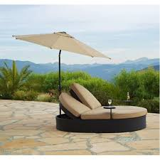 outdoor double chaise lounge with umbrella canopy daybed patio
