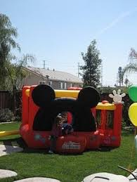 mickey mouse clubhouse bounce house mickey park jump bounce house by jump bounce houses now